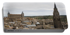 Portable Battery Charger featuring the photograph A View From The Iglesia De San Ildefonso  by Lorraine Devon Wilke