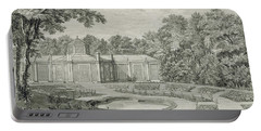 A View Of The Aviary And Flower Garden At Kew Portable Battery Charger