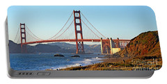 Portable Battery Charger featuring the photograph A View Of The Golden Gate Bridge From Baker's Beach  by Jim Fitzpatrick