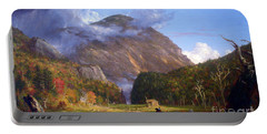 A View Of The Mountain Pass Called The Notch Of The White Mountans By Thomas Cole Portable Battery Charger