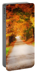 A Walk Along The Golden Path Portable Battery Charger by Jeff Folger