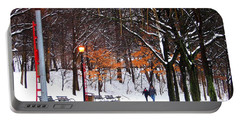 Portable Battery Charger featuring the photograph A Walk By The Lake After The Storm by Dora Sofia Caputo Photographic Art and Design