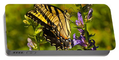 A Warm September Day In The Garden Portable Battery Charger by Byron Varvarigos