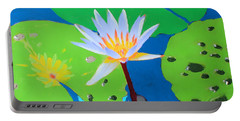 A Water Lily In Its Pad Portable Battery Charger
