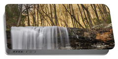 A Waterfall Drops Over A Cliff Portable Battery Charger