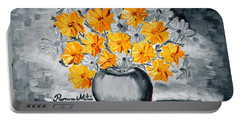 A Whole Bunch Of Daisies Selective Color I Portable Battery Charger