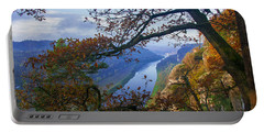 A Window To The Elbe In The Saxon Switzerland Portable Battery Charger