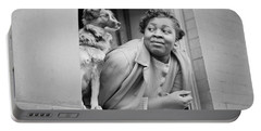 A Woman And Her Dog Portable Battery Charger by Gordon Parks