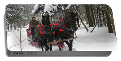 A Wonderful Day For A Sleigh Ride Portable Battery Charger