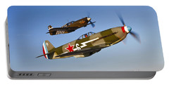 A Yakovlev Yak-9 Fighter Plane Portable Battery Charger by Scott Germain