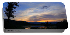 A Yellowstone Lake Before Sunrise Portable Battery Charger