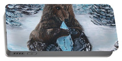 A Young Brown Bear Portable Battery Charger