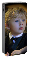 Portable Battery Charger featuring the photograph A Young Gentleman by Ally  White