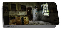 Abandoned Building - Old Asylum - Open Cabinet Doors Portable Battery Charger