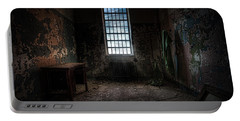 Abandoned Building - Old Room - Room With A Desk Portable Battery Charger