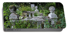 Portable Battery Charger featuring the photograph Abandoned Cemetery 2 by Cathy Mahnke