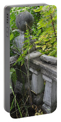 Portable Battery Charger featuring the photograph Abandoned Cemetery by Cathy Mahnke