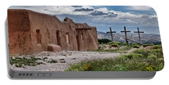 Abandoned Church In Abiquiu New Mexico Portable Battery Charger