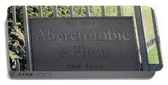 Abercrombie And Fitch Store In Paris France Portable Battery Charger by Richard Rosenshein