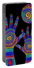 Aboriginal Hands To The Sun Portable Battery Charger by Barbara St Jean