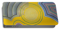 Portable Battery Charger featuring the painting Aboriginal Inspirations 35 by Mariusz Czajkowski