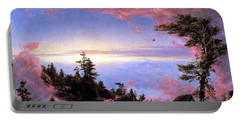 Above The Clouds At Sunrise By Frederick Edwin Church Portable Battery Charger