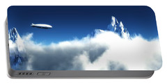 Portable Battery Charger featuring the digital art Above The Clouds... by Tim Fillingim
