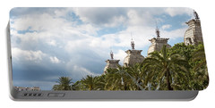 Portable Battery Charger featuring the photograph Above The Trees Of Parc De La Ciutadella by Lorraine Devon Wilke