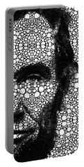 Abraham Lincoln - An American President Stone Rock'd Art Print Portable Battery Charger