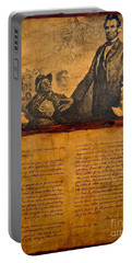 Abraham Lincoln The Gettysburg Address Portable Battery Charger