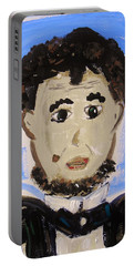 Abraham Lincoln Future President Portable Battery Charger by Mary Carol Williams
