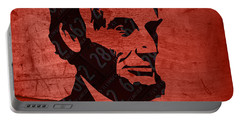 Abraham Lincoln License Plate Art Portable Battery Charger