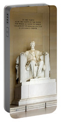 Abraham Lincolns Statue In A Memorial Portable Battery Charger by Panoramic Images
