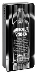 Absolut Black And White Portable Battery Charger
