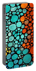 Mosaic Art - Abstract 3 - By Sharon Cummings Portable Battery Charger