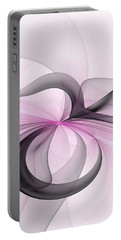 Abstract Art Fractal With Pink Portable Battery Charger