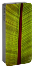Portable Battery Charger featuring the photograph Banana Leaf by David Millenheft