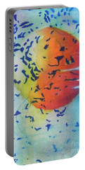 Portable Battery Charger featuring the painting Abstract by Chrisann Ellis