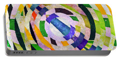 Portable Battery Charger featuring the photograph Abstract Circles by Susan Leggett