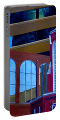 Abstract City Downtown Shreveport Louisiana Urban Buildings And Church Portable Battery Charger