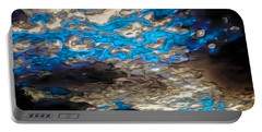 Abstract Clouds Portable Battery Charger by Claudia Ellis