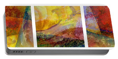 Abstract Collage No. 1 Portable Battery Charger by Michelle Calkins