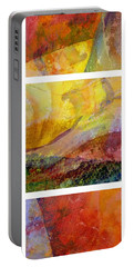 Abstract Collage No. 2 Portable Battery Charger by Michelle Calkins