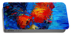 Abstract Colorful Gallic Rooster Portable Battery Charger
