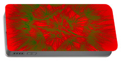 Portable Battery Charger featuring the photograph Abstract Dandelion Bloom by Mae Wertz