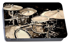 Abstract Drum Set Portable Battery Charger by J Vincent Scarpace
