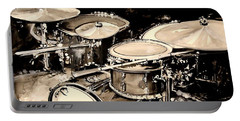 Abstract Drum Set Portable Battery Charger