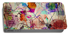 Portable Battery Charger featuring the digital art Abstract Expressionism by Phil Perkins