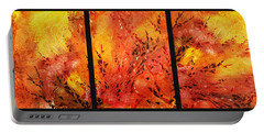 Abstract Fireplace Portable Battery Charger