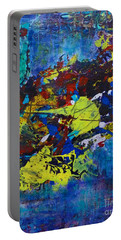 Portable Battery Charger featuring the painting Abstract Fish  by Claire Bull